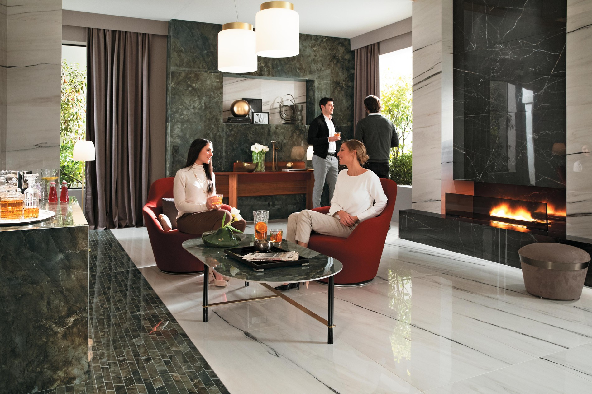 Porcelain tiles or single-fired tiles: the right choice for every project