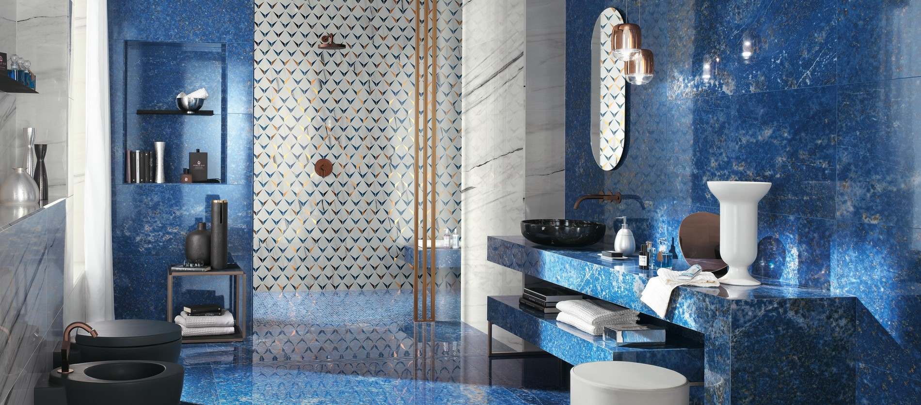 The timeless appeal of marble-look bathroom wall tiles