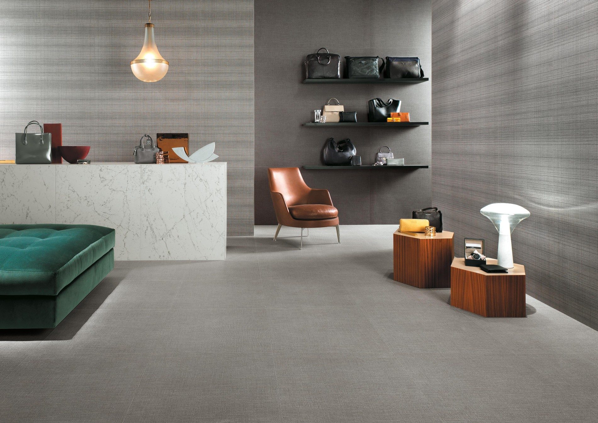Sophisticated ceramic tile surfaces with refined patterns