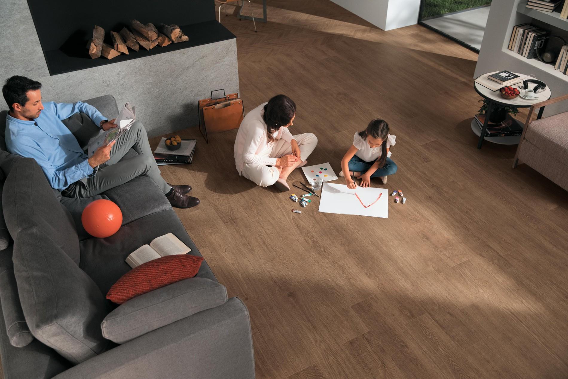 Pavimentos de gres porcelánico efecto madera
