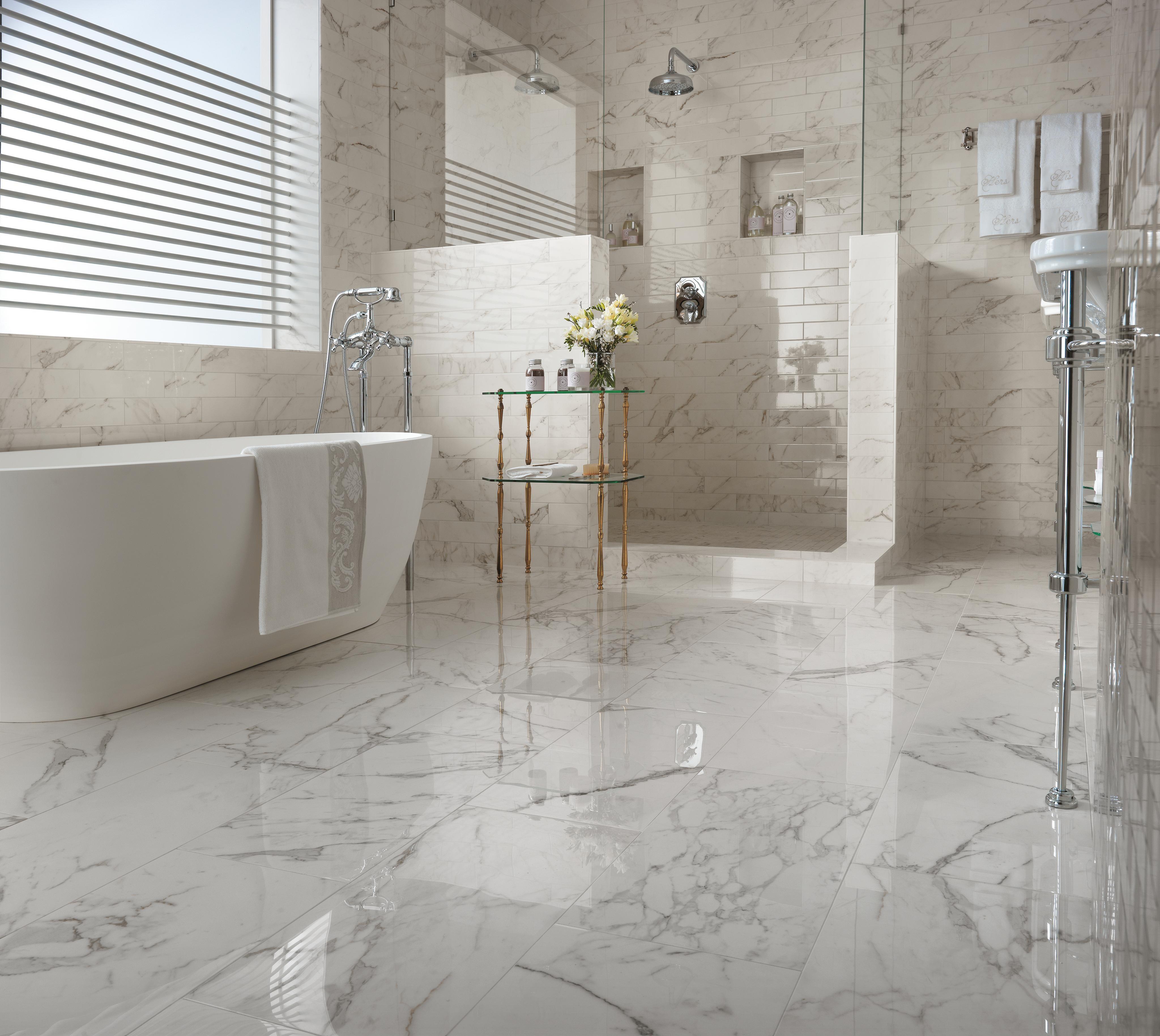 Atlas Marvel Calacatta Extra brick atelier - marble look ceramic tiles - atlas concorde