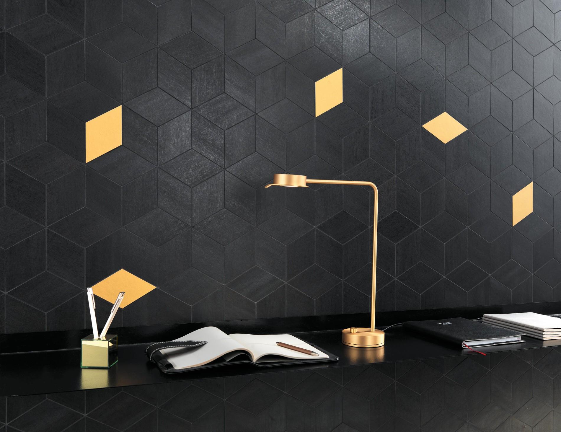 Metal look porcelain tiles