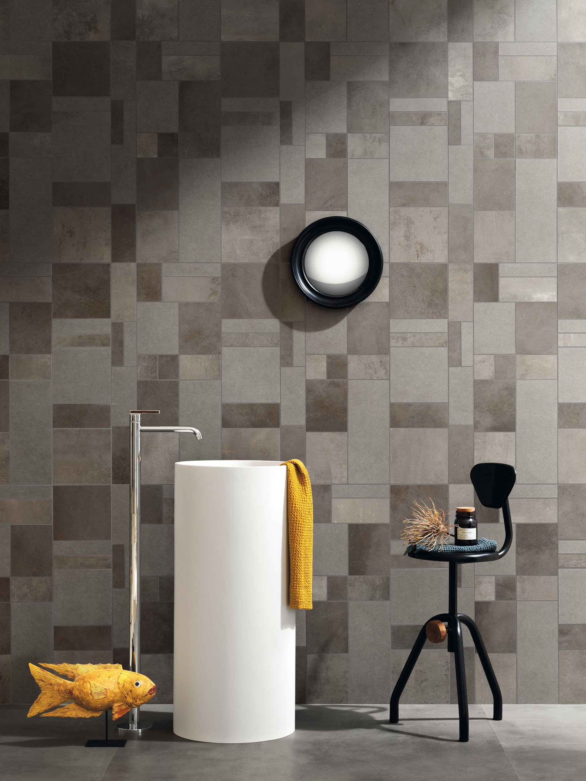 Three-dimensional wall tiles and decorative surfaces