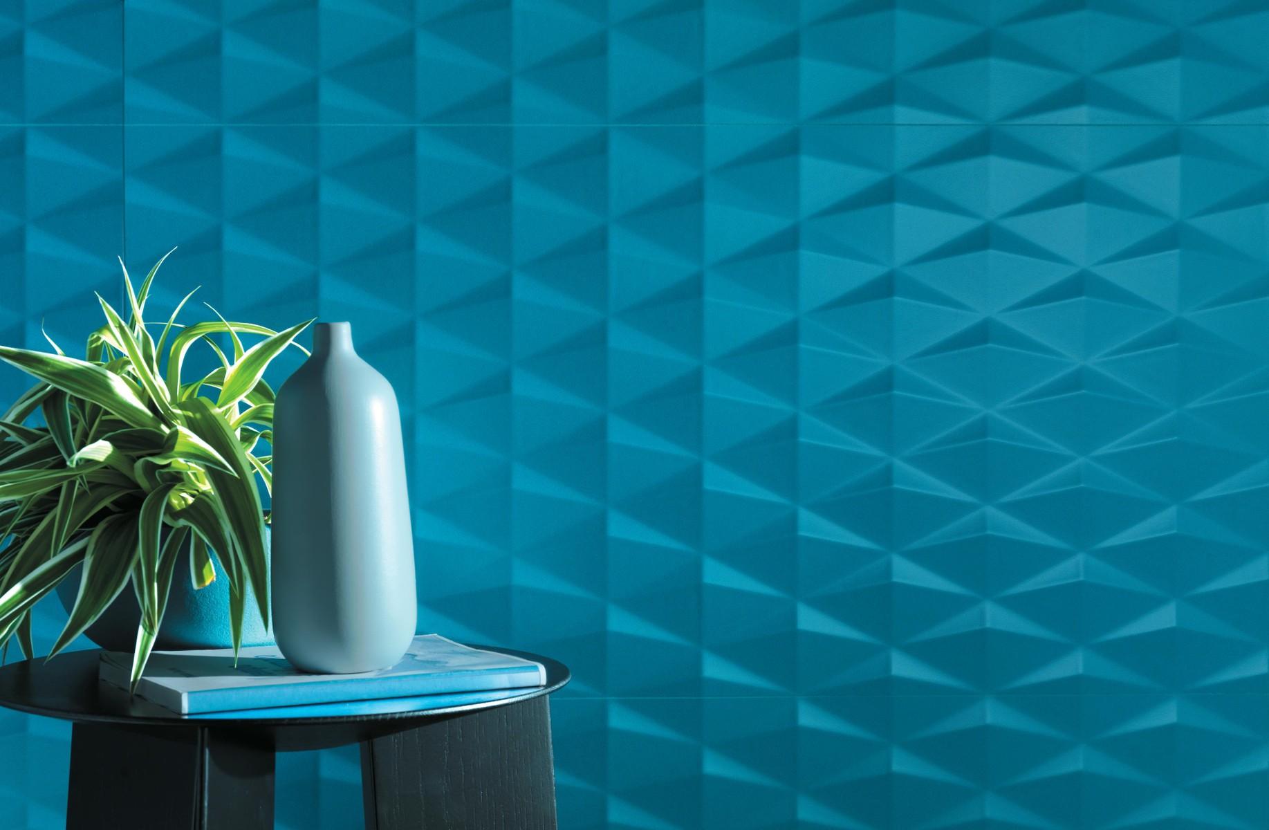 3D Stars Blue 40x80