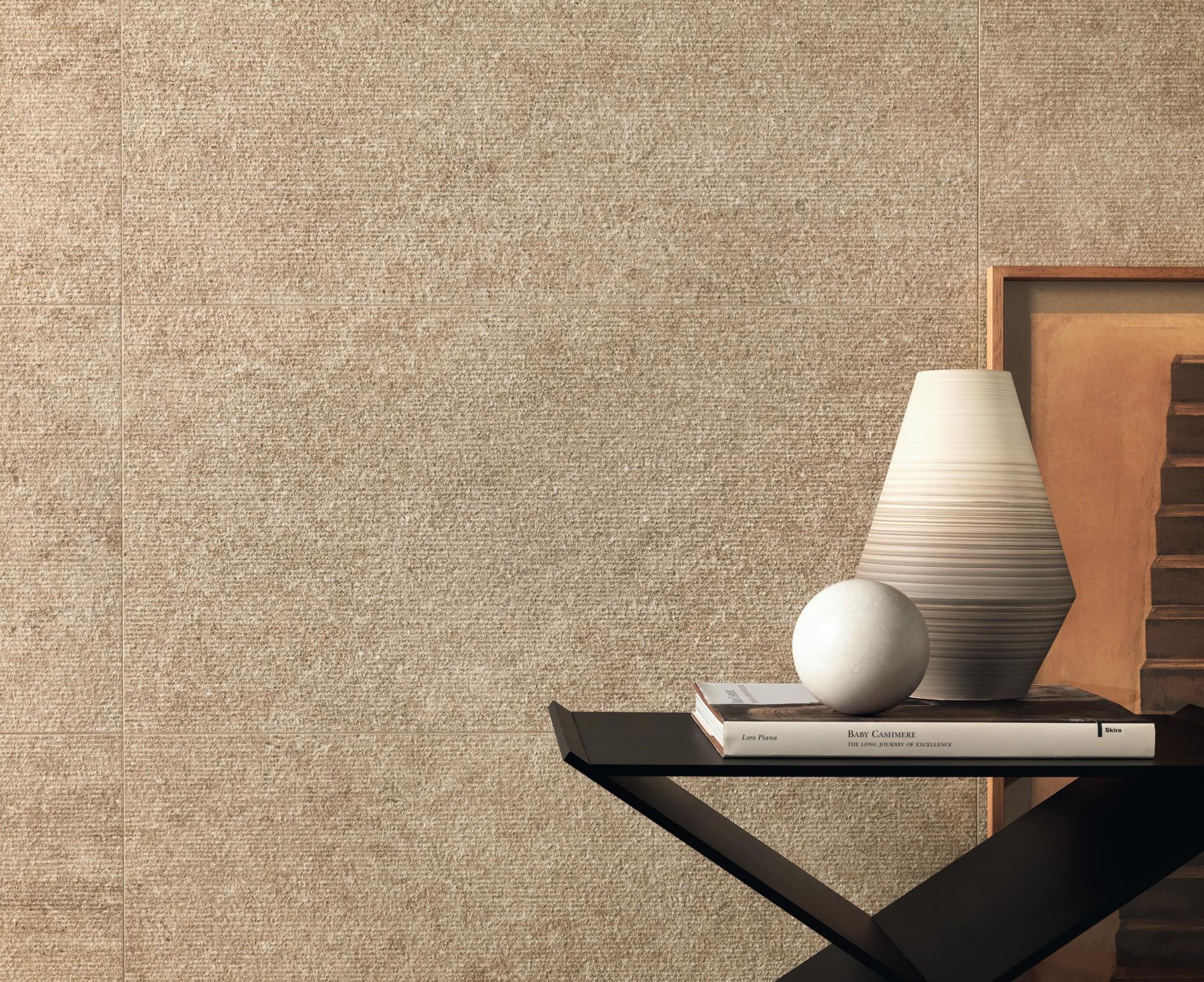 Stone look porcelain tiles