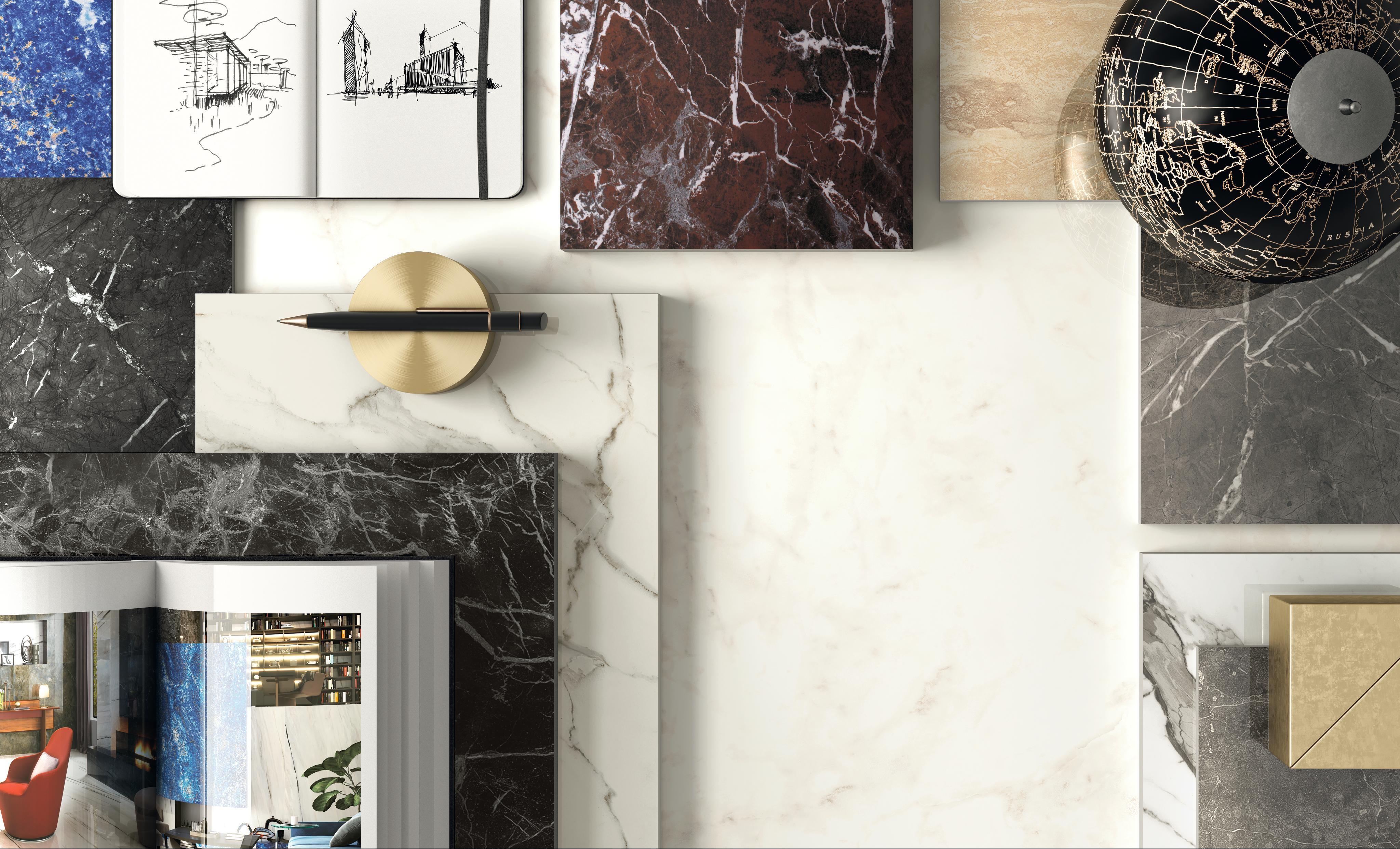 Colección con efecto mármol